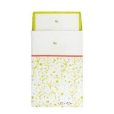 IKEA - FÅGELSÅNG, 3-piece bedlinen set for crib, , Cotton is soft and feels nice against your child's skin.