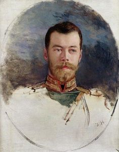 "aw-laurendet: "" Unfinished portrait of the Tsar Nicholas ll of Russia. """
