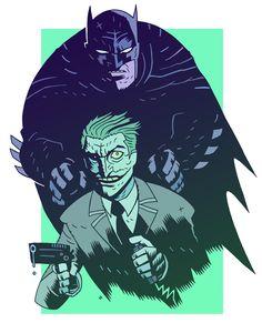Batman & The Joker - Dan Hipp