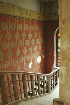 stairs in Abandoned Mansion, Ostrowo, Poland