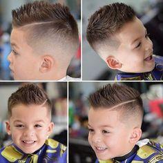 coupe petit garçon côtés rasés raie