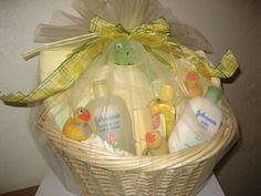 Little Rubber Duckies- baby shower gift basket