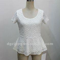 signore camicetta design pizzo di cotone bianco top peplo-Bluse e top-Id prodotto:652118613-italian.alibaba.com