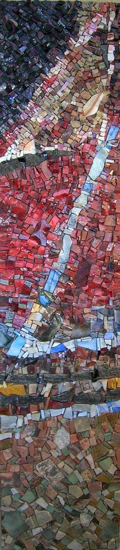antonella zorzi mosaics..Contemporary and traditional treatment of mosaics. Fabulous artist, fabulous works.