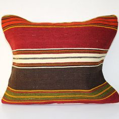 """KLP-000176-17""""x 20"""" hand made anatolian vintage kilim pillow case with cotten& poliester hidden   zipper on the side with piping"""
