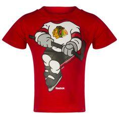 Chicago Blackhawks Toddler Red Dream Hockey Tee by Reebok #Chicago #Blackhawks #ChicagoBlackhawks