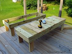 Outdoor sun loungers, chaise loungers, wood working project for our deck! Diy Planter Box, Diy Planters, Diy Vanity Lights, Wood Stars, Seasonal Decor, Sun Lounger, Diy Design, Woodworking Projects, Wood Working
