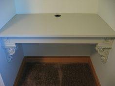 Alcove desk DIY