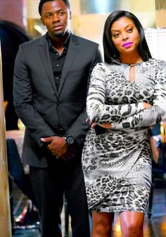 Taraji P. Henson and Derek Luke of Empire on the Fox Network.