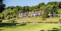 GIDLEIGH PARK, Chagford, Devon, England - buried in the wild country of Dartmoor National Park is this luxury hotel, a famous country manor and gardens.
