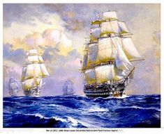 The HMS Albion Leads The Raid on  New Point Comfort Virginia in War of 1812