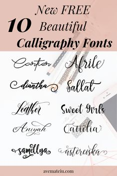 10 New FREE Beautiful Calligraphy Fonts – framepicture Calligraphy Fonts Alphabet, Handwriting Fonts, Free Calligraphy Fonts Download, Free Cursive Fonts, Free Fonts Download, Font Alphabet, Font Free, Fancy Fonts, Cool Fonts