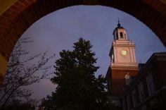 Johns Hopkins on a warm summer evening.