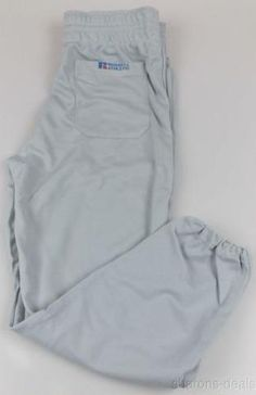 New Russell Athletic Mens Baseball Softball Pants Gray Large Elastic Waist USA - FUNsational Finds - 1