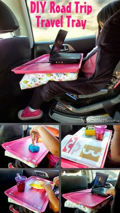 Helping Kids Grow Up: How To Make A Road Trip Travel Tray