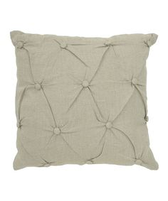 Look what I found on #zulily! Natural Tufted Linen Throw Pillow by Tumble Creek Home #zulilyfinds