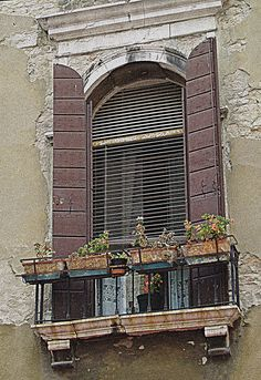 French Window with Crumbling Walls - Cathy Casey Treasures Photograph