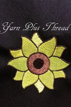 Free Embroidery Design: Sunflower