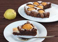 Recept na fantastický koláč s hruškami a čokoládou, bez  múky