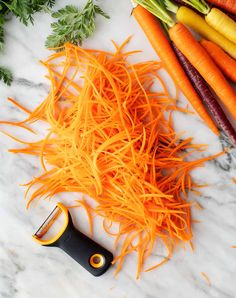 Carrot Salad Recipes, Fresh Salad Recipes, Veggie Recipes, Carrot Skin, Steamed Bao Buns, Bok Choy Stir Fry