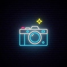 Neon sign of photo camera sign. Premium Vector Neon sign of photo camera sign. Custom Neon Signs, Led Neon Signs, Neon Light Signs, Neon Sign Tumblr, Neon Light Art, Neon Wallpaper, Camera Wallpaper, Phone Wallpapers, Hight Light