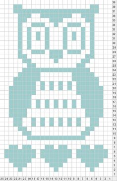 54 Ideas For Knitting Charts Owl Filet Crochet Cross Stitch Owl, Cross Stitch Charts, Cross Stitch Embroidery, Cross Stitch Patterns, Knitting Charts, Knitting Stitches, Knitting Patterns, Crochet Patterns, Filet Crochet Charts