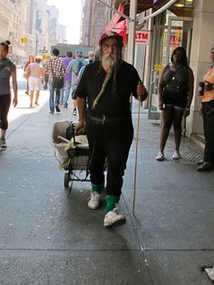 Homeless guy in New York