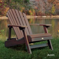 Highwood Eco-Friendly Wood Embossed Folding and Reclining Adirondack Chair