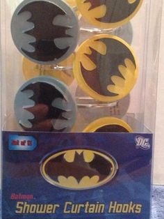 Batman Shower Curtain Hooks set of 12 by Franco, http://www.amazon.com/dp/B00DSPG6T8/ref=cm_sw_r_pi_dp_.6uGsb1BC7XF5