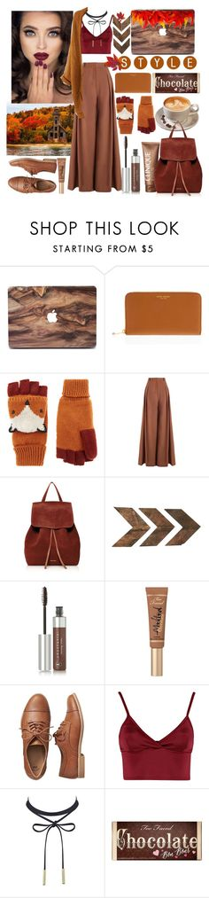 """fall fashion 🍁🍂🌰🍄"" by anoo17k ❤ liked on Polyvore featuring Clinique, Henri Bendel, Accessorize, Zimmermann, Mansur Gavriel, WALL, Anastasia Beverly Hills, Too Faced Cosmetics, Gap and Lipsy"
