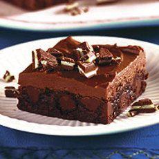 Chocolade munt brownies
