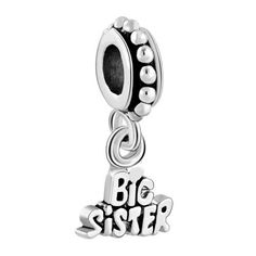 Sister Er Bead Dangle Charm Gift From Little Pandora Chamilia Compatible Charmsstory