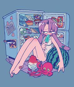 ひえひえ避暑地。http://kanekoshake.tumblr.com/