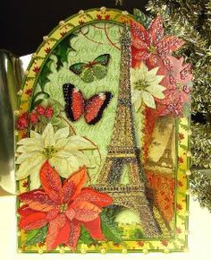 125 best punch studio christmas boxes images on pinterest punch punch studio 59416 christmas greeting cards eiffel tower poinsettias victorian die cut glitter embellished boxed set of 12 by punch studio 1499 m4hsunfo