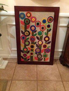 Cuadro Multicolor hecho en paño lenci