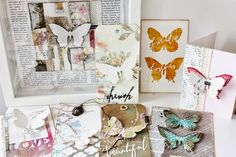 Scrapmanufaktur: Butterfly duo of Tim Holtz