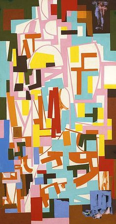 Untitled 1940 Ad Reinhardt Born: Buffalo, New York 1913 Died: New York, New York 1967 oil on fiberboard 46 x 24 in.) Smithsonian American Art Museum Gift of Patricia and Phillip Frost Jackson Pollock, Abstract Images, Abstract Art, Willem De Kooning, Ad Reinhardt, Monochrome Painting, Geometric Painting, Graffiti, Abstract Painters
