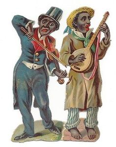 Glanzbilder - Victorian Die Cut - Victorian Scrap - Tube Victorienne - Glansbilleder - Plaatjes : Farbige - colored people - de couleur
