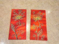 Lotus acrylic painting