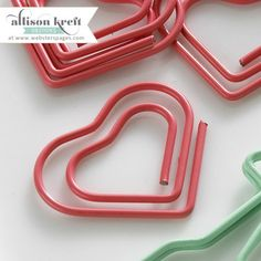 Webster's Pages - Heart paperclips