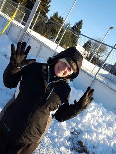 Shannon Clair  looooves the snow