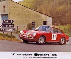 1967 Porsche 911 Bjorn Waldegard Rally Car Tulpenrallye