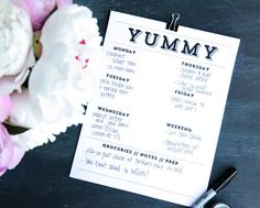 Printable Easy Meal Planner