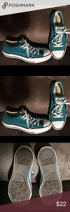 Converse Tennis shoes Sz 7.5 Blue Converse tennis shoes Sz 7.5. Good condition. All reasonable offers considered. Bundle and receive a discount. Converse Shoes Sneakers