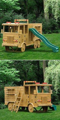 Cool outdoor play area. Adorable climbing set for your kid.