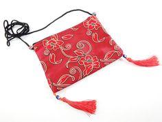 Large Red Flower Floral Turkish Carpet Shoulder by TurkishTwinkles, $9.00
