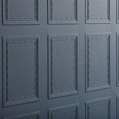 Georgian Panel by Lincrusta - Paintable - Wallpaper : Wallpaper Direct Anaglypta Wallpaper, Embossed Wallpaper, Wallpaper Panels, Wall Wallpaper, Wallpaper Ideas, Modern Georgian, Georgian Homes, Pastel Iphone Wallpaper, Georgian Interiors