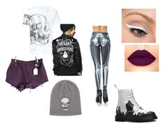 """""""Ouija Skull"""" by agender-snail ❤ liked on Polyvore featuring Alexander McQueen, Dr. Martens, Kill Star, LORAC, Levi's, 360cashmere, men's fashion and menswear"""