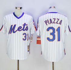7d7727346 Men New York Mets 31 Piazza White Throwback MLB mlb jerseys