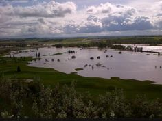 That was a #golfcourse #yyc #yycflood2013 Oil And Gas, Some Pictures, Calgary, River, Mountains, City, Outdoor, Beautiful, Bergen